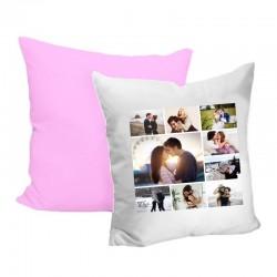 Pernă roz cu alb...