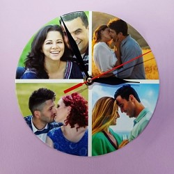 Ceas personalizat cu 4 poze