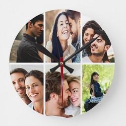 Ceas de personalizat cu 6 poze