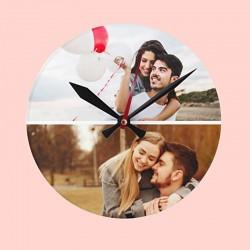 Ceas personalizat cu 2 poze