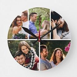 Ceas personalizat cu 5 poze