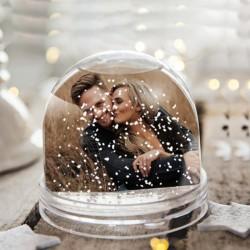 Glob foto zăpadă cu 2 poze