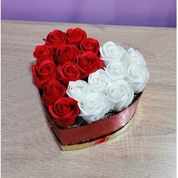 Buchet inimă - 18 Trandafiri
