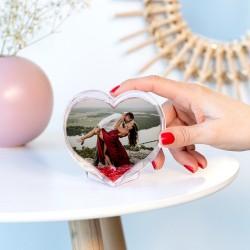 Glob foto în formă de inimă
