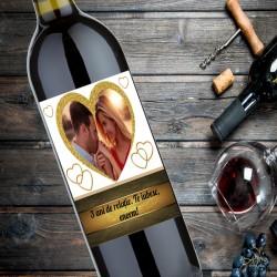 Sticlă de vin personalizată...