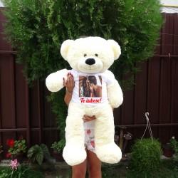 Urs de plus 90 cm cu fundă...