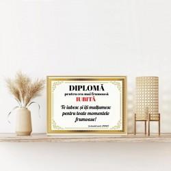Diplomă de merit personalizată