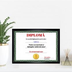 Diplomă personalizată...